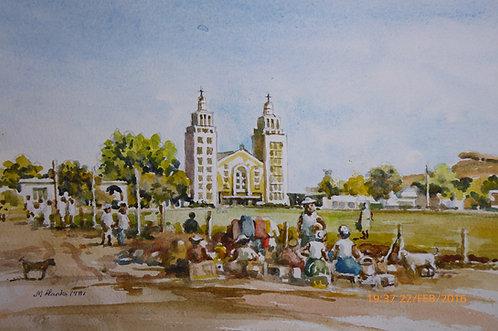 Maseru Cathedral and market, 1981