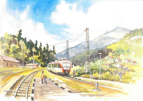 Station on way through the Iskar Gorge, 2011