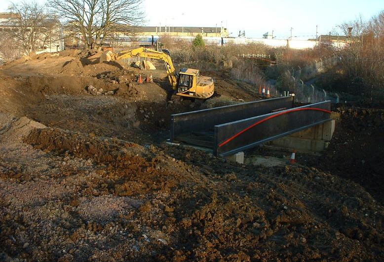 Bridge 2 in position - working on big po