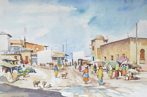 Colourful market at Harar, 1993