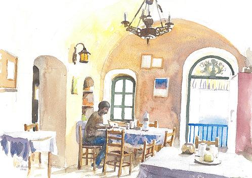 Taverna Alexandra's, Anafi Island, 1995