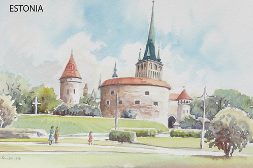 Old fort in Tallinn, 1998
