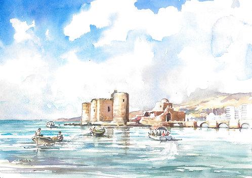 Port of Sidon, Lebanon, 2018