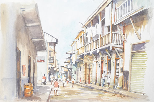 Back street, old Panama, 1976