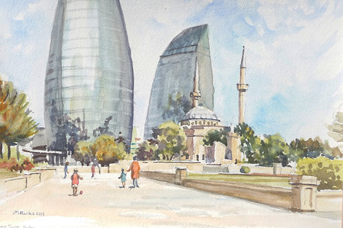 Flame Towers, Baku, 2015