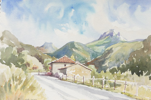 Road near Potes in The Picos de Europa (B)