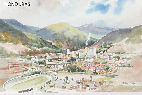 View of Tegucigalpa from hill, 1976