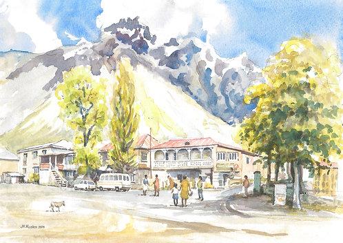 Kazbegi, in the Caucasus Mountains, 2004
