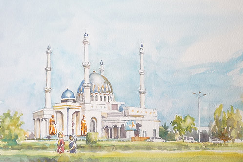 The Gurbanguly Hajji Mosque, Merv, 2012