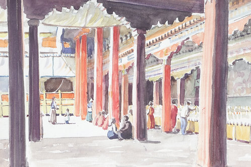 The Jokhang Temple interior, 1988