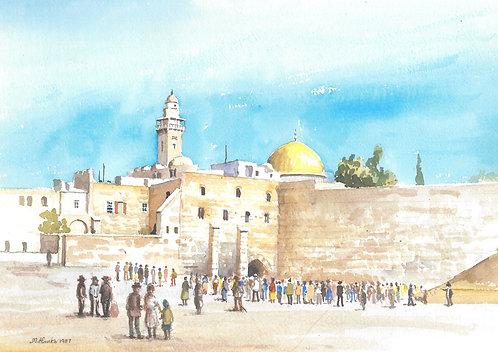 The Western Wall, Jerusalem, 1987