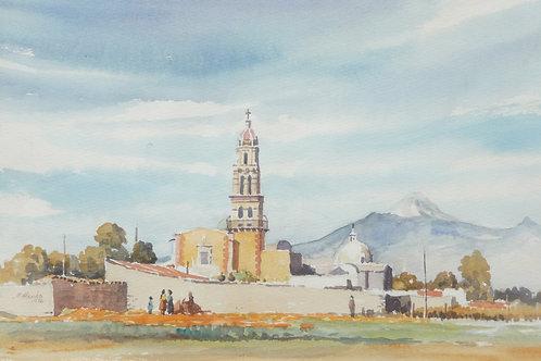 Small church in fields near Cholula, 1976