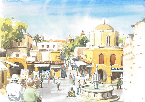 The Old City of Rhodes (B), 1994