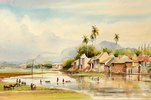 River scene near Madurai, 1979