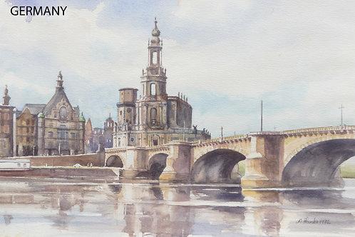 The Augustus Bridge in Dresden, 1982