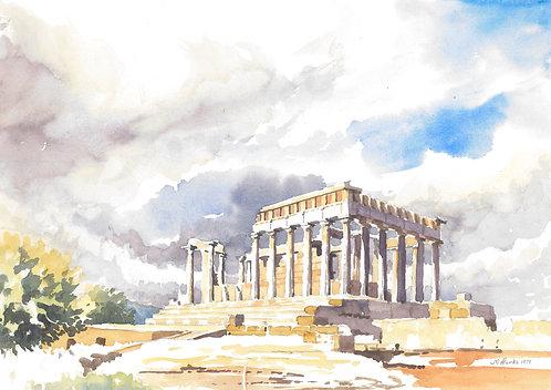 The Temple of Aphaia, Aegina Island, 1979