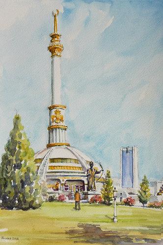 The Independence Monument, Ashgabat, 2012