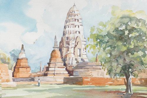 An abandoned temple at Ayutthaya (A), 1994