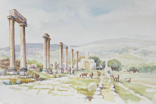 Roman ruins of Jerash, 1996