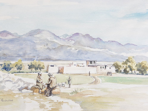 Fortified house on road north of Kandahar, 1968