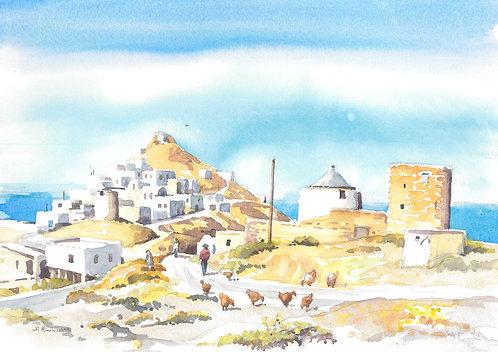 Anafi Village, Anafi Island, 1995