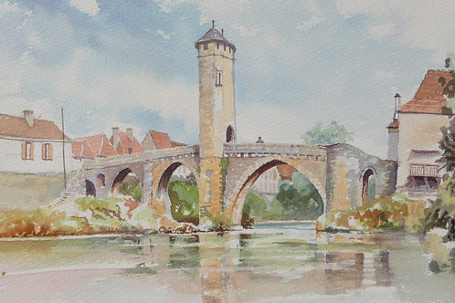 Bridge at Orthez, 1986