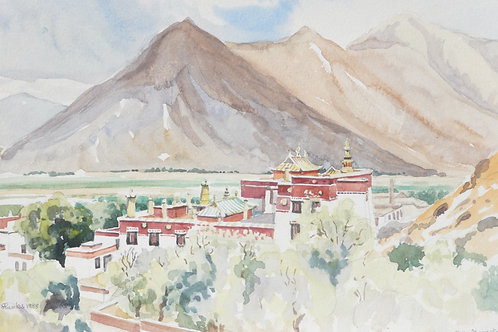 The Sera Monastery, north of Lhasa, 1988