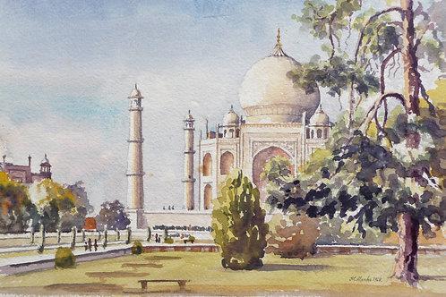 Taj Mahal at Agra, 1968