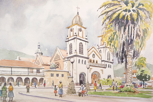 Gualaceo Church and Central Plaza, 1990