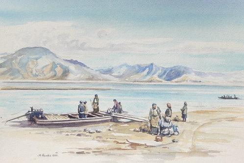 Ferry over to Samye, 1988