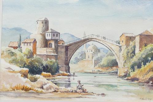 Historic Bridge, Mostar 1970