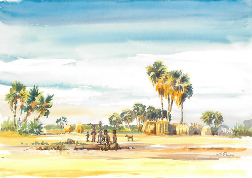 Village near Lake Turkana, 1977