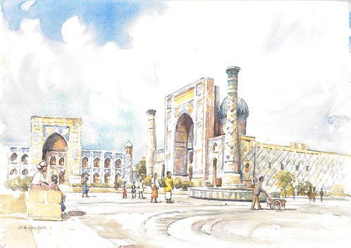 The Registan, Samarkand, 2001