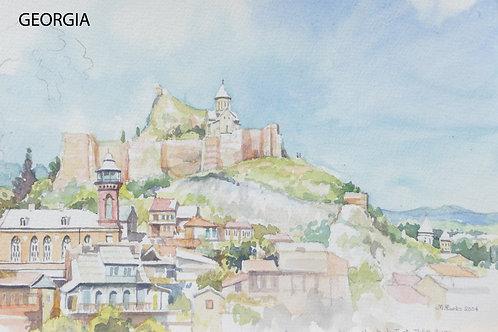 Narikala Fortress in Tbilisi, 2004
