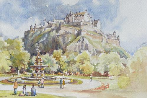 Edinburgh Castle from gardens, 2013