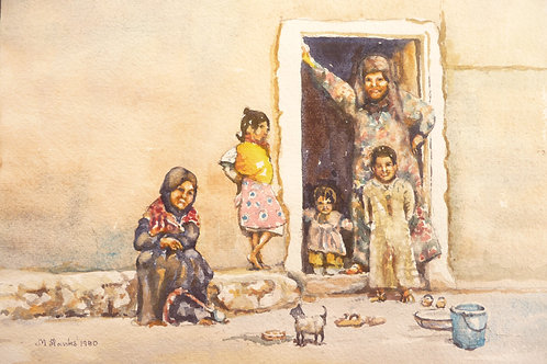 Family group at Hama, 1980