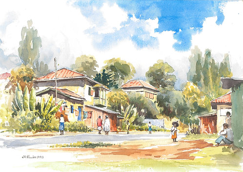 Back street of Addis Ababa, 1993