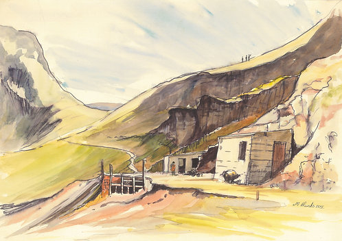Force Crag Mine, Grisedale Pike, 1975