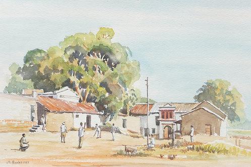 Village cricket match near Aurangabad, 1987