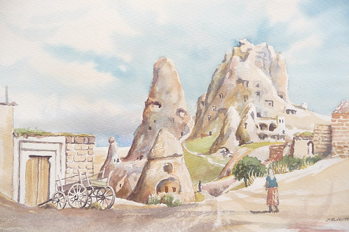Christian cave homes and churches at Göreme, 1986