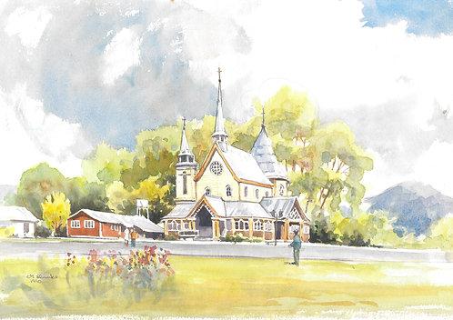Metrenco church near Temuco, 1990