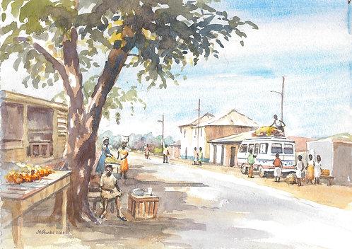 Street scene in Navrongo, 2004