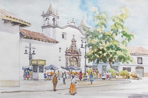 Cuenca Flower Market, 1990