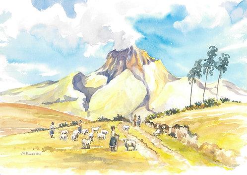 Imbabura Volcano, 1990