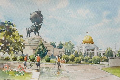 Halk Hakydasy Memorial, Ashgabat, 2012