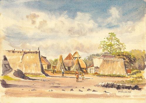 Small fishing village, Bali 1969