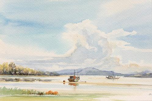 Fishing boats off east coast near Kuantan, 1985