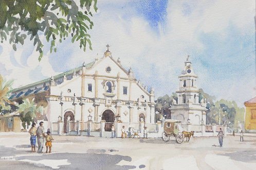 Vigan Cathedral in northern Luzon, 2008