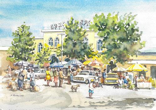 Colourful market at Ganja, 2015