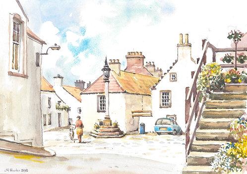 Back street of Culross, Fife, 2012